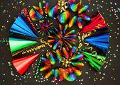 Fotografie Karneval Party Dekoration. Girlanden, luftschlangen und Konfetti