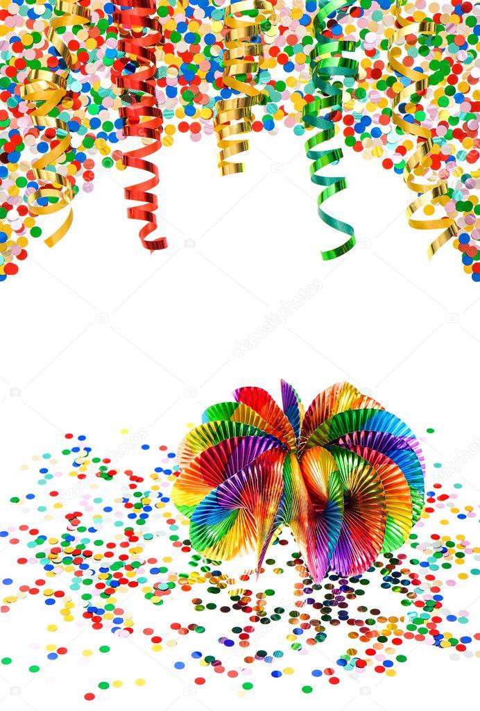 Girlanden Luftschlangen Und Konfetti Karneval Party Dekoration