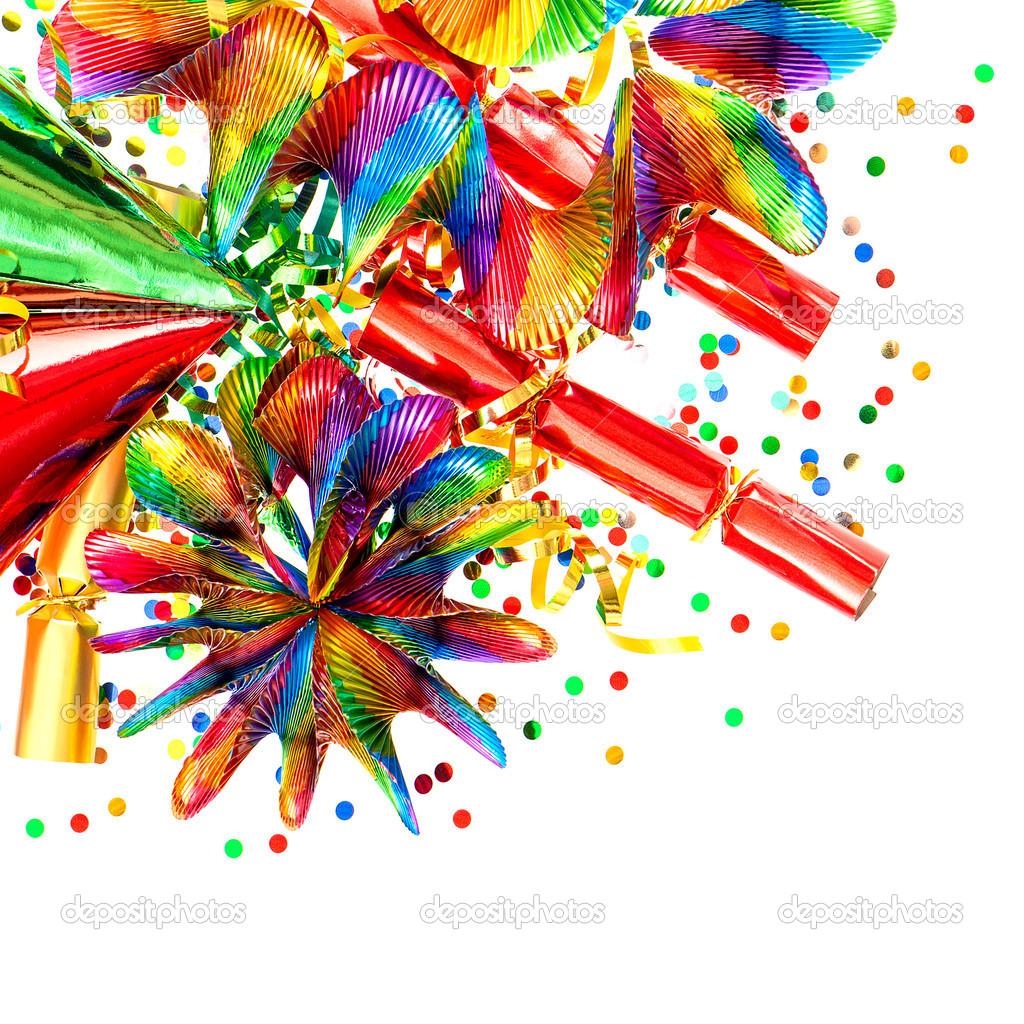 Konfetti Girlanden Luftschlangen Karneval Dekorationen