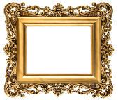 Vintage goldene Bilderrahmen, isoliert auf weiss