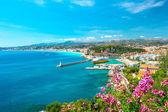 Fotografie pěkné město, Francouzská Riviéra, Středozemní moře