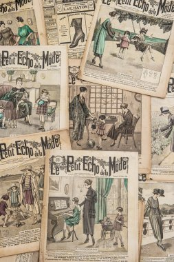 Antique french fashion magazine from 1919