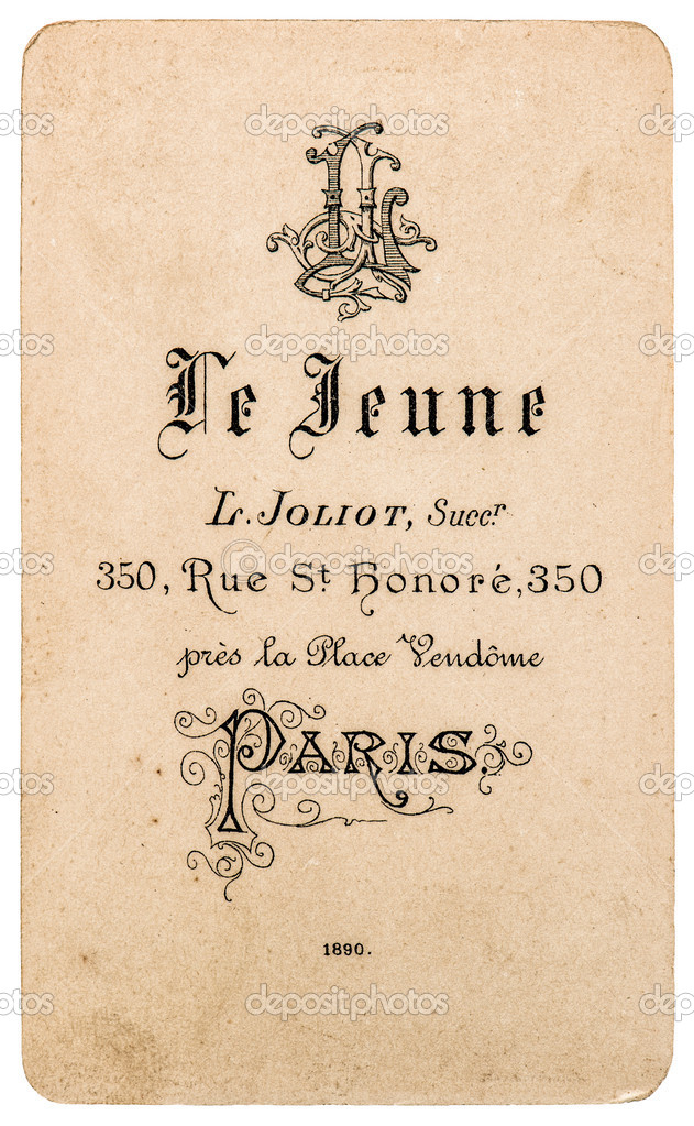 Antike Franzosische Carte De Visite Von 1890 Seltene Vintage Visitenkarte Foto