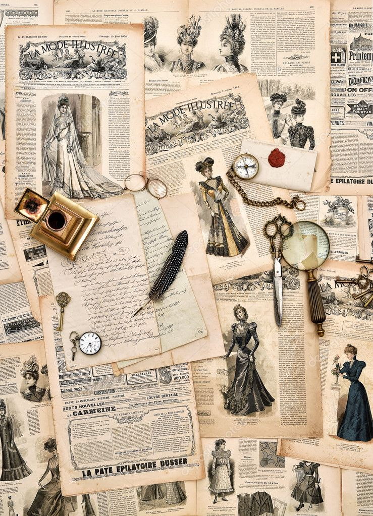 Antique Office Supplies Old Letters Writing Tools Vintage Fashion Magazine For The Woman From 1898 Retro Style Toned Picture Photo By Liligraphie