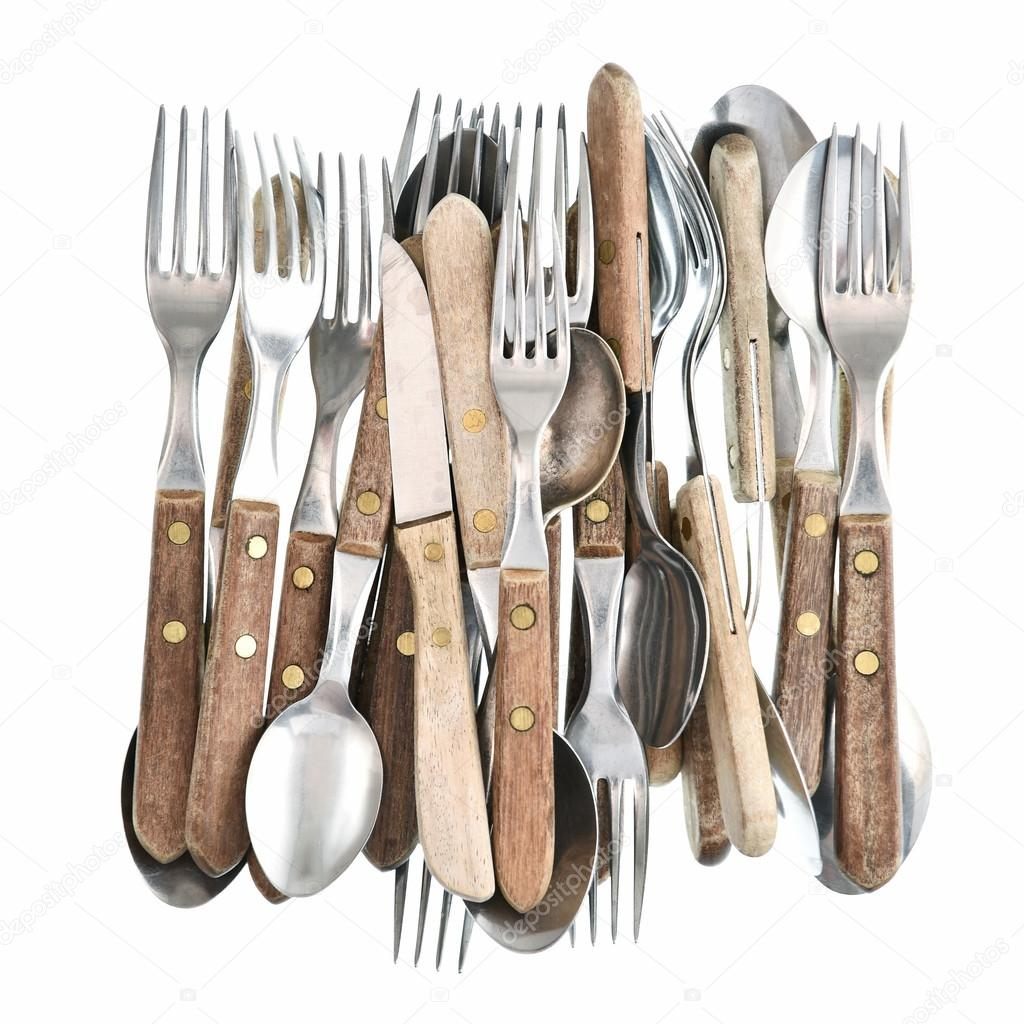 Vintage Kitchen Utensils Images: Retro Kitchen Utensils Knife, Fork And Spoon. Antique