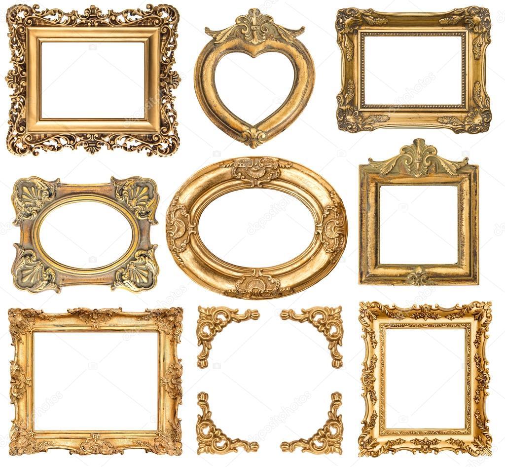marcos de oro. objetos antiguos de estilo barroco — Fotos de Stock ...