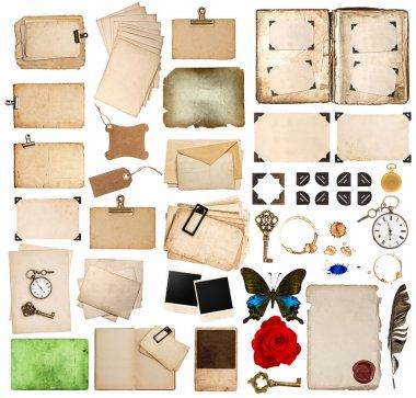 Scrapbooking elements. vintage photo album, paper, corner and fr