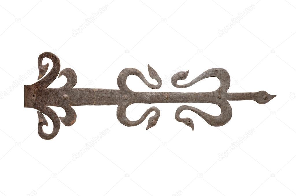 Charni re de porte ancienne en fer forg photographie photoigor 23672393 for Porte en fer forge ancienne