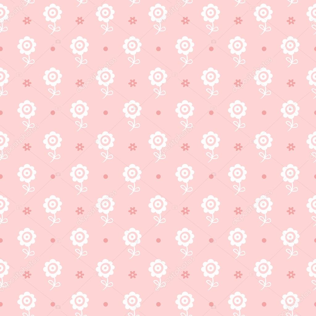 Seamless floral pattern. Flowers texture for girl.