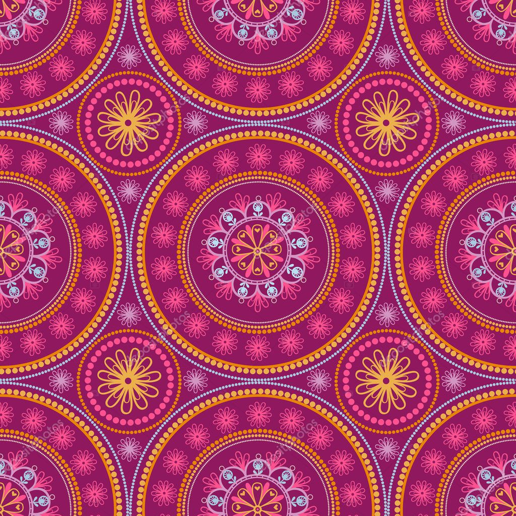 Indian ornament, kaleidoscopic,mandala.