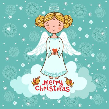 Greeting card, Christmas card with angel