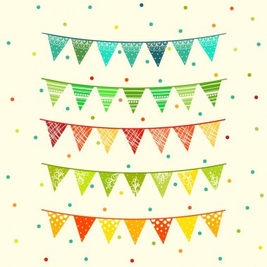 Party pennant bunting. Flags