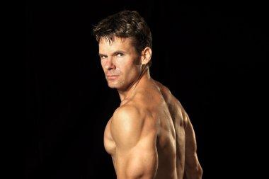 Muscular shirtless man