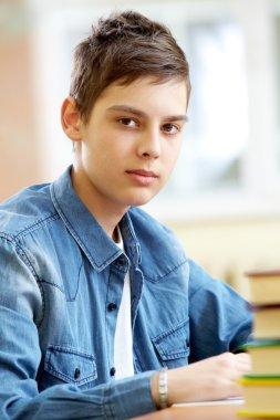 Teenage pupil