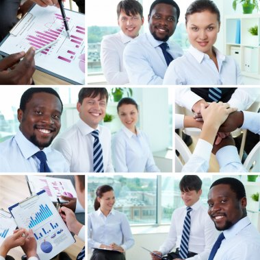 Businesspeople and teamwork