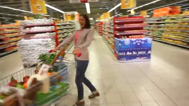 Shopper having fun