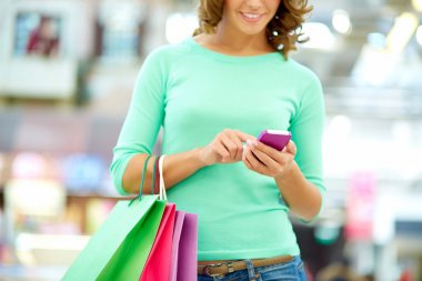 Shopping and texting