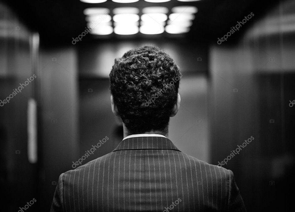 Back of man