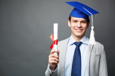 Student with diploma
