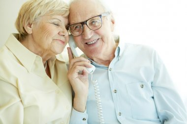 Couple on the phone