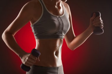 Exercise with dumbbells