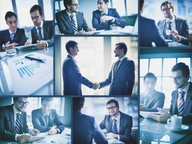 Businessmen at meeting