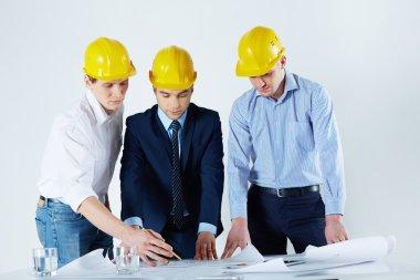 Engineers working