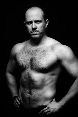 Shirtless man