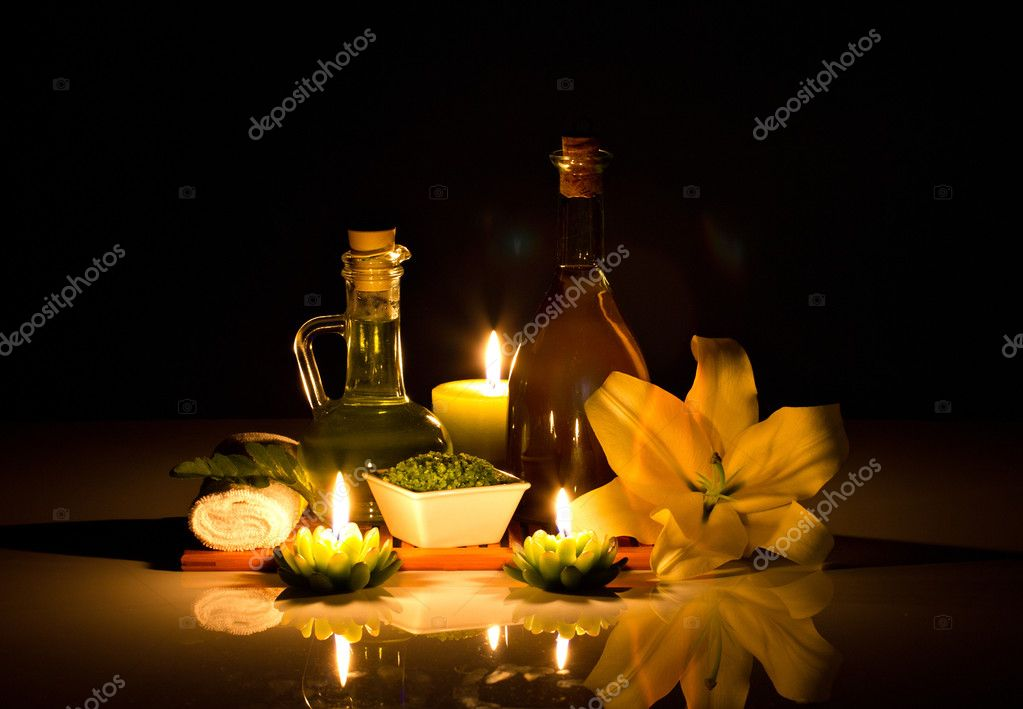 Spa still-life with candles