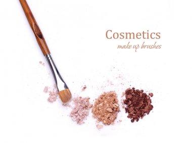 makeup brush and shadows
