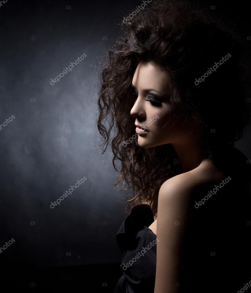 portrait of a glamorous girl