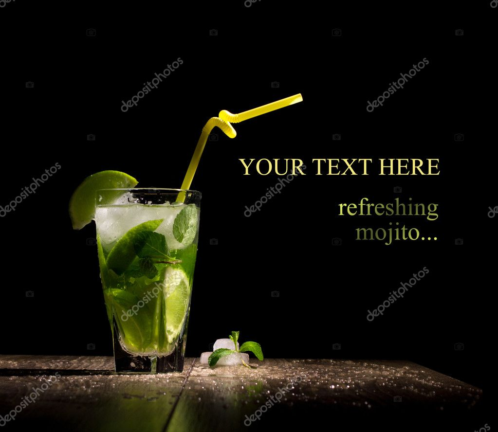 fresh drink with lime