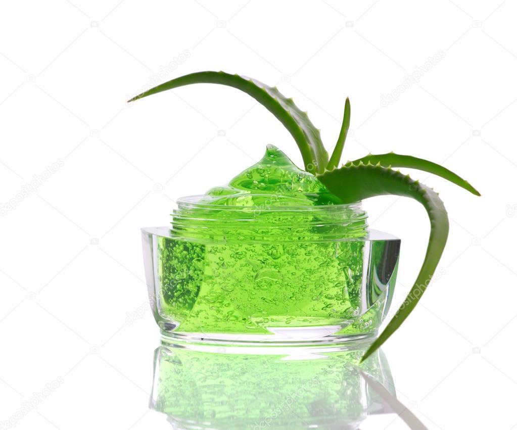green gel and aloe
