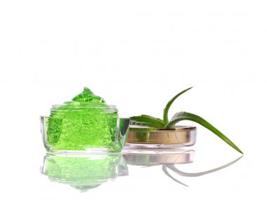 natural cosmetics with aloe vera