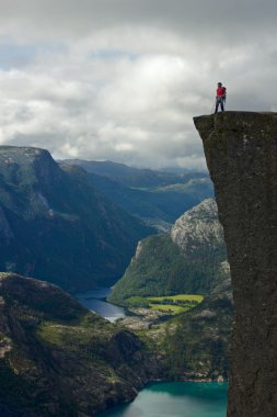 young man on preikestolen