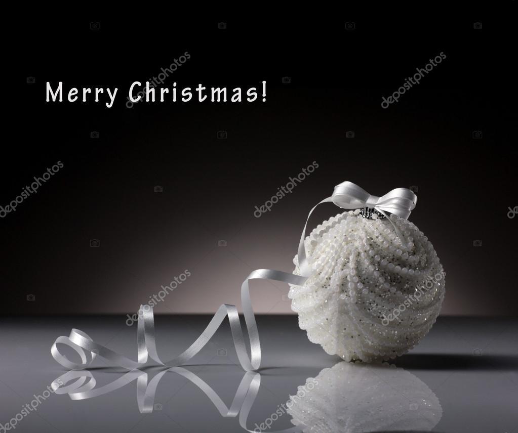 white ball on dark background