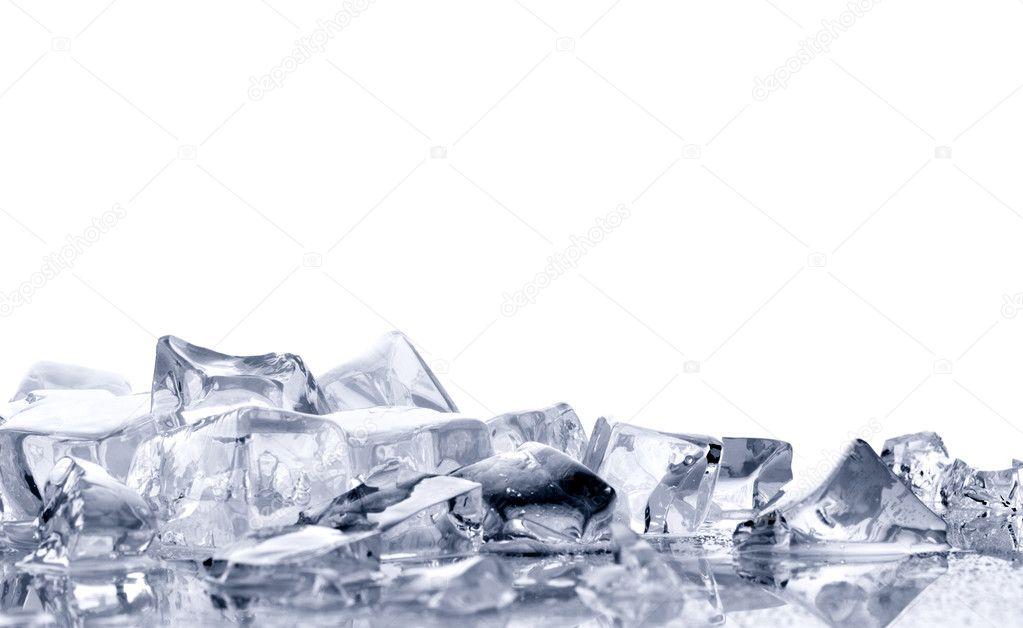 Ice  on  white background