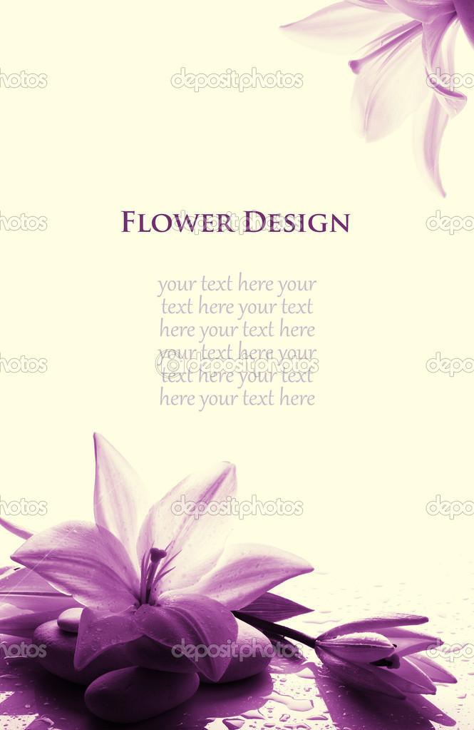 flower design, card
