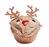 Fotografia cupcake di Natale su sfondo bianco, sfondo bianco