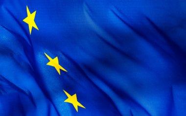 Fragment of a European Union flag