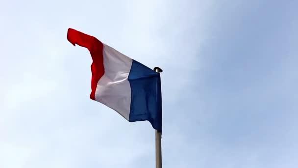 Fransa Bayrağı Rüzgar Stok Video Wlad74 23867809