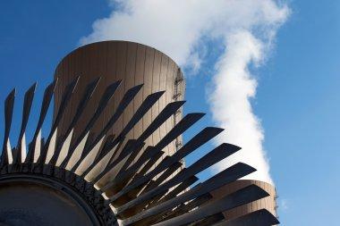 Steam turbine against nuclear plant