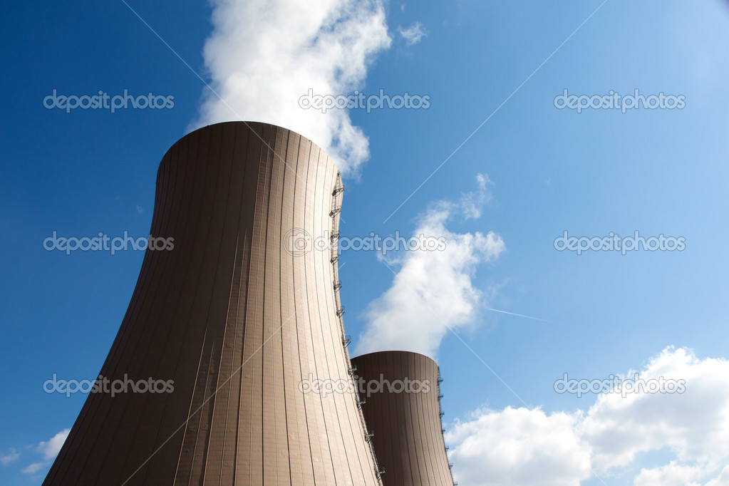 Cooling towers of nuclear power plant