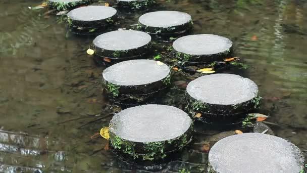 kamenná cesta v přes rybník v zen garden