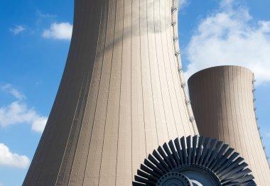 Steam turbine against a nuclear power plant