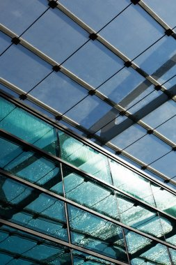glass roof of the station in the sunlight