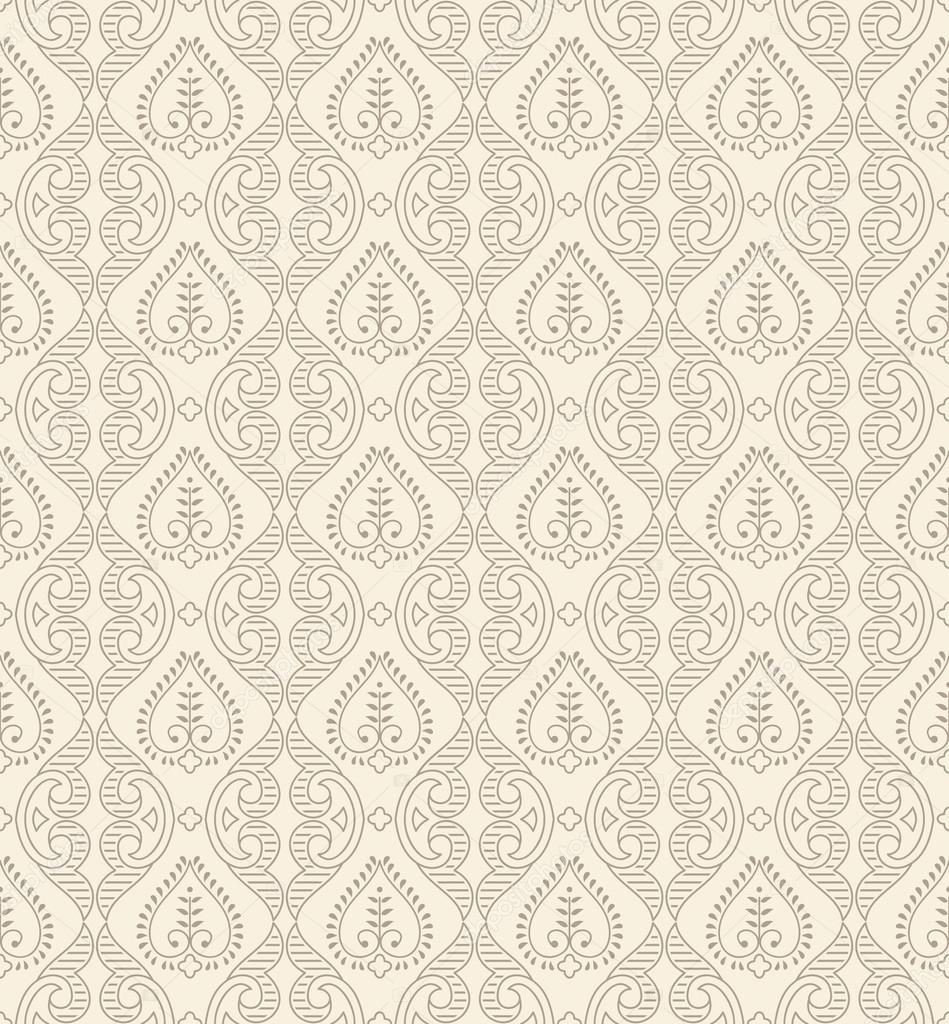 Floral Seamless Damask Wallpaper Stock Vector