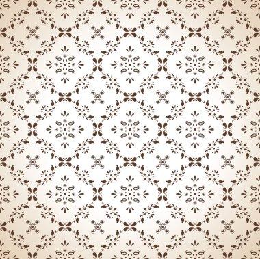 Seamless paisley wallpaper in brown