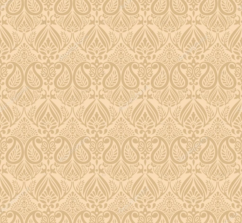 Seamless Traditional Background For Invitation Card Stock