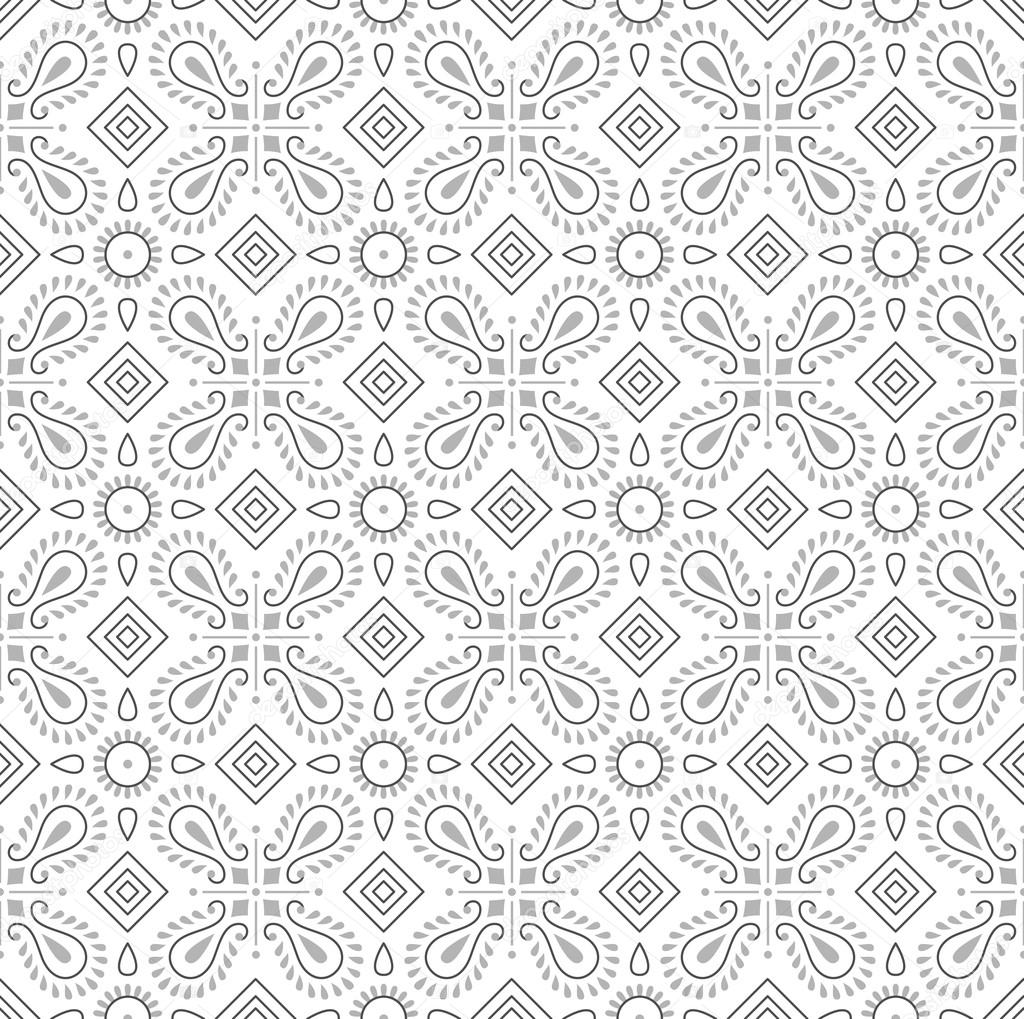 Seamless Fancy Wallpaper Stock Vector